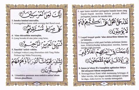Buku Yasin Art paper 208 Halaman