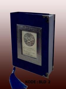 buku yasin beludru biru bca bingkai kotak