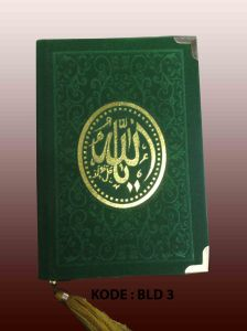 buku yasin beludru hijau motif batik