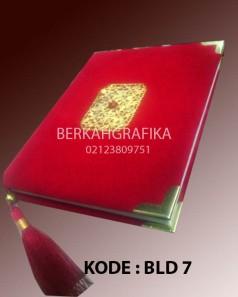 buku yasin beludru merah cabe