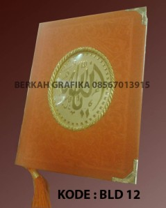 buku yasin beludru oranye aksesories tambang emas BLD 12