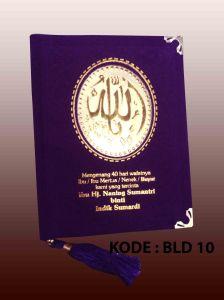buku yasin beludru ungu hotprint nama